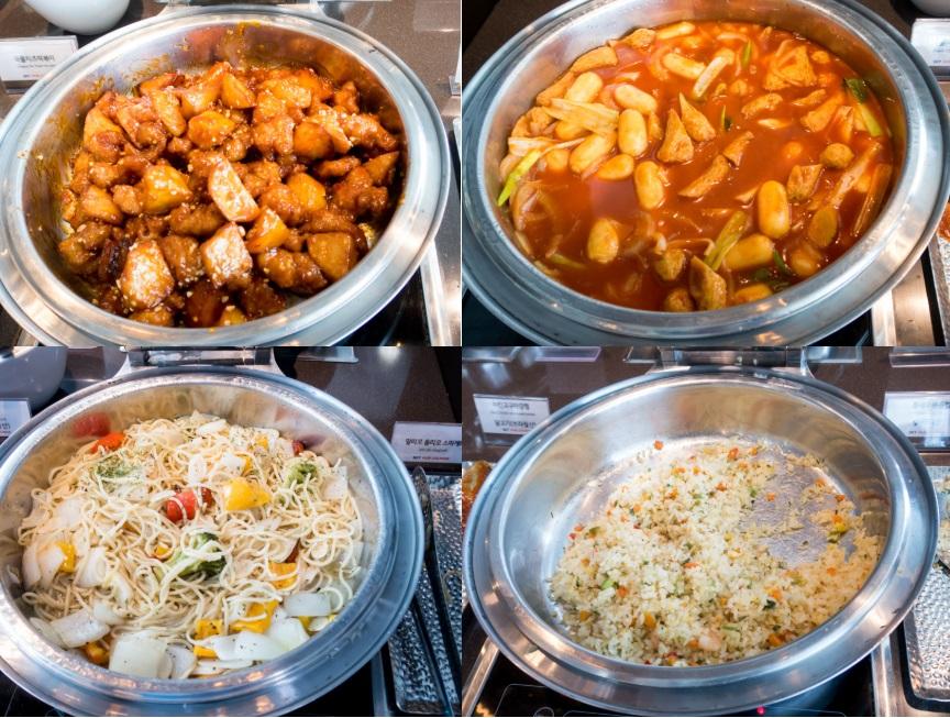 韓国釜山ラウンジの食事