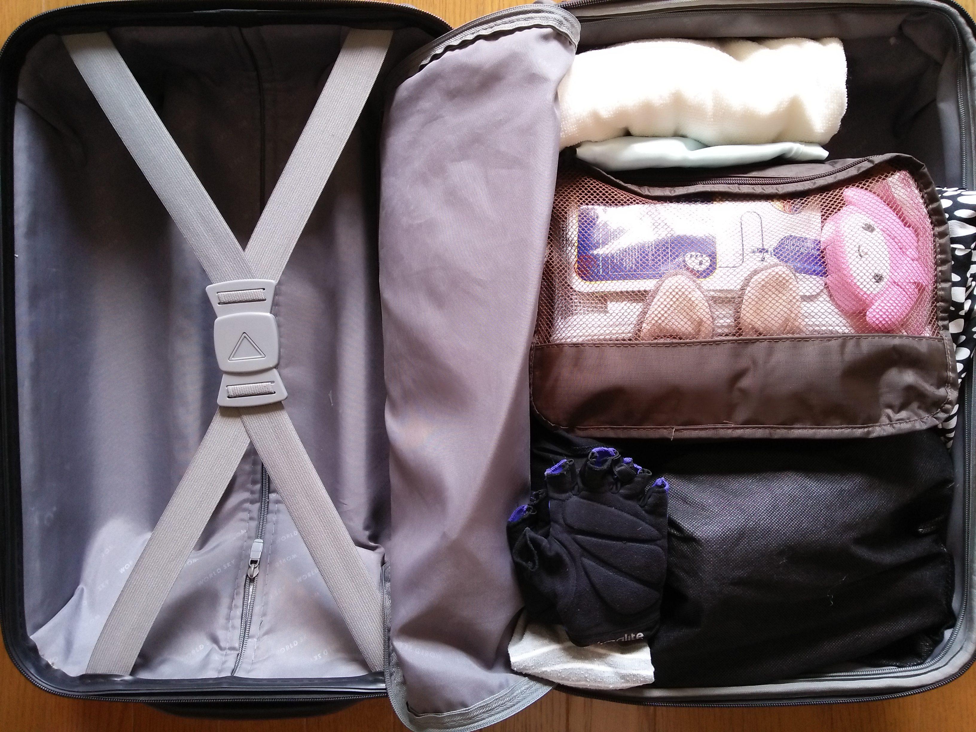 海外移住 ミニマリスト女性旅行時の持ち物リスト スーツケースに詰めるとこんな感じ。